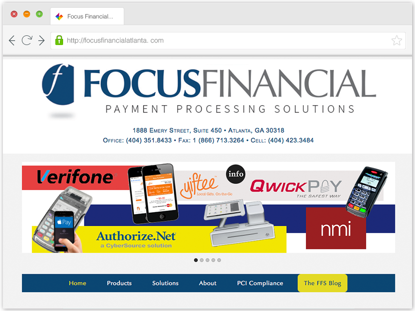 Focus Financial Solutions Web Site image